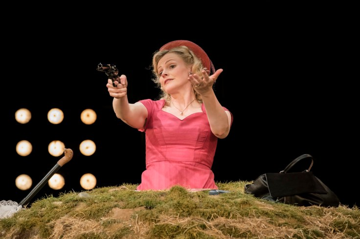 Happy Days Royal Exchange Manchester Theatre Reviews Samuel Beckett Maxine Peake