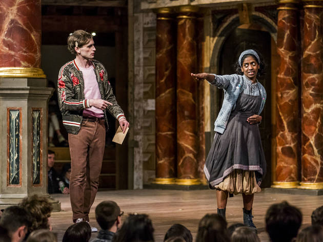 As You Like It Shakespeare's Globe Theatre Review Jack Laskey Nadia Nadarajah