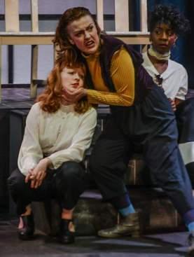Amy Gavin Player King Misha Duncan-Barry Guildenstern Tori Burgess Rosencrantz All Female Hamlet Hope Mill Theatre Girl Gang Manchester