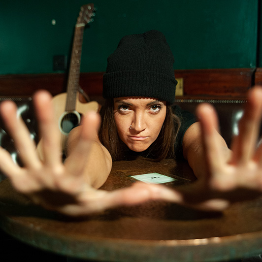 Bloody Elle, A Gig Musical at the Royal Exchange Theatre Manchester, starring Lauryn Redding